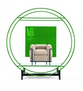 LC2 armchair by Le Corbusier Cassina