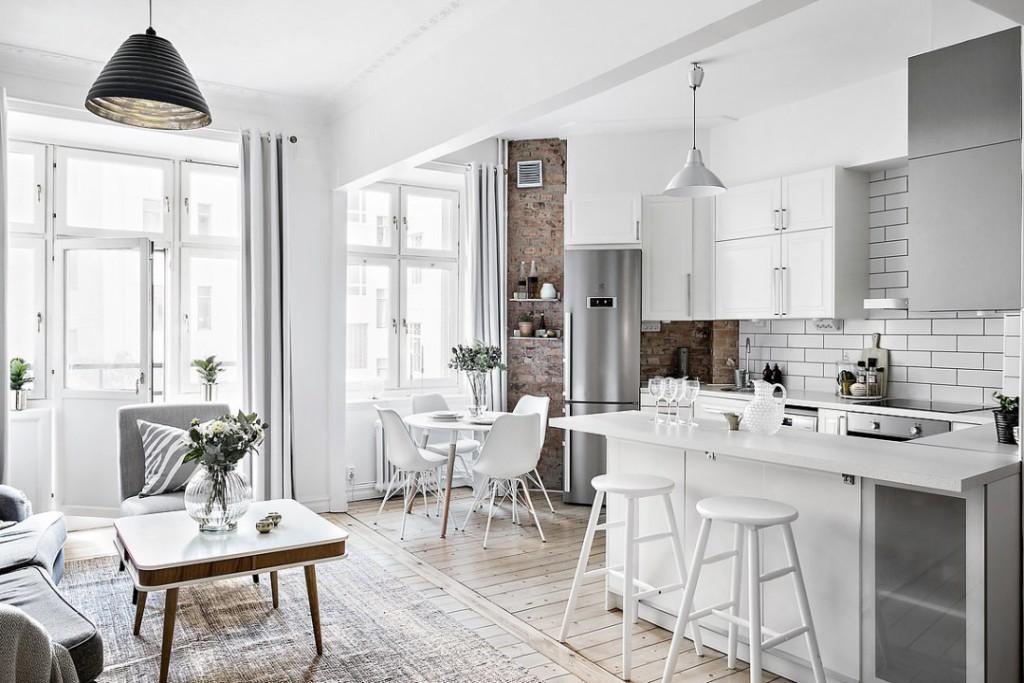 Color blanco, estilo nórdico para proyectos de interiorismo y decoración