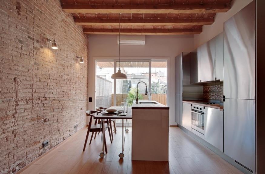 Paredes de ladrillo visto, cómo crear una vivienda de estilo industrial