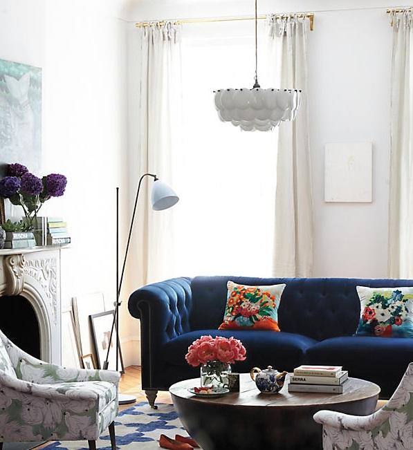 Terciopelo para suavizar hogares, tendencia en decoración para 2017