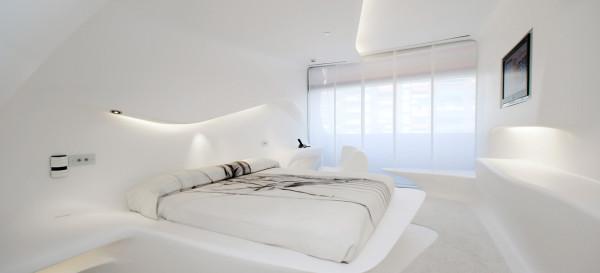 Zaha Hadid, arquitectura de interiores para hoteles, Hotel Silken Puerta de América