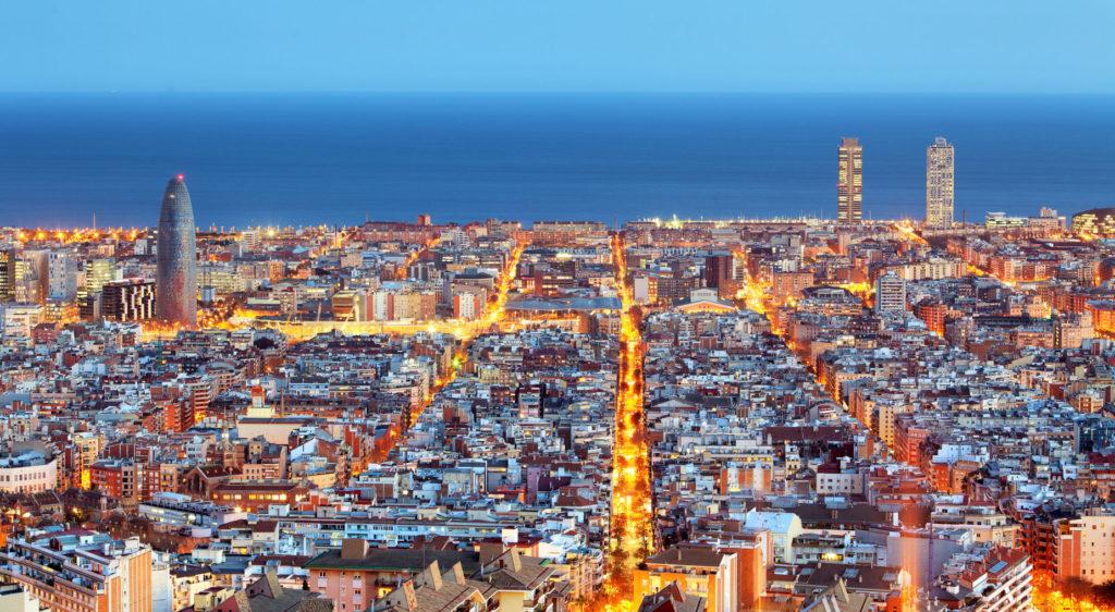 imagen de la ciuad de Barcelona, dentro del artículo sobre sector inmobiliario en 2018 en España