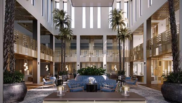 Hall del hotel del IKOS Andalusia donde participa la serie BJC MEGA